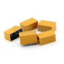 5 pcs High Quality 8 Pins RELAY 12V DC Coil Power Relay PCB < HK19F-DC12V-SHG>