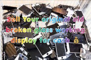 WE  BUY YOUR BROKEN GLASS ORIGINAL WORKING SCREENS