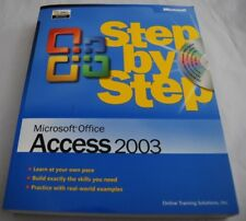 Step by Step: Microsoft Office Access 2003 w CD - Online Training Solutions New