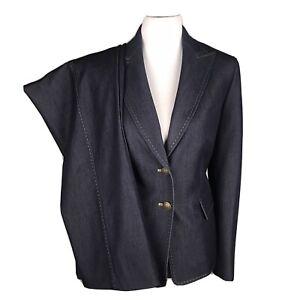 New KASPER Women  Denim Like Navy Polyester Blend Pant Suit Size 10 MSRP $280