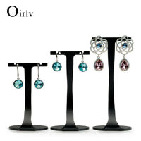 Black T Bar Metal  Earring Display Rack Stand Holders for Shop Showcase Set of 3