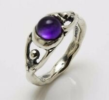 Moon Dancer Goddess Ring .925 Sterling SILVER Sz 8 Natural Amethyst gemstone