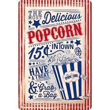 Nostalgic-Art 22263 USA - Popcorn Blechschild 20x30 Cm