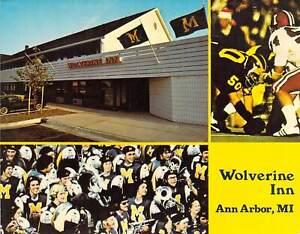 """""""Wolverine Inn"""" Ann Arbor, MI Jumbo 5 5/8"""" x 7"""" Jumbo Postcard. Football Team"""