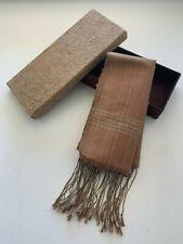 """New w/GIFT BOX~THAI Silk SHAWL Wrap Fringed SCARF BIG 69x24"""" Table Runner+TASSEL"""