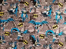 Batman Flanell 20 X 112 cm Baumwolle Badmobil Fledermaus Gotham Comic Bruce