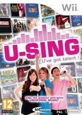 Wii & Wii U-U-Sing (erste Original Version) ** Neu & Versiegelt ** Official UK Lager