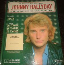 JOHNNY HALLYDAY LIVRE + CD JE T AIME JE T AIME .....DE LA COLLECTION OFFICIELLE