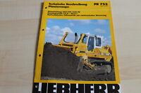 127099) Liebherr Planierraupe PR 752 Prospekt 09/1999