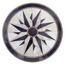 Floor medallion marble mosaic nautical compass travertine tile 42 Medallion Us