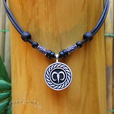 Sternzeichen Halskette WIDDER Aries verstellbar Lederkette Surferkette Horoskop