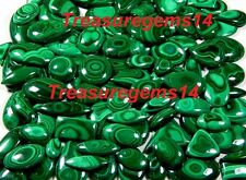 250 CT WHOLESALE LOT NATURAL ANTIQUE GREEN MALACHITE CABOCHON UNTREATED GEMSTONE
