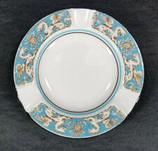 """Wedgwood Turquoise Florentine bone china 4 1/2"""" ashtray Green mark W2614 Dragon"""