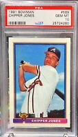1991 Bowman #569 Chipper Jones ROOKIE RC GEM MT MINT PSA 10