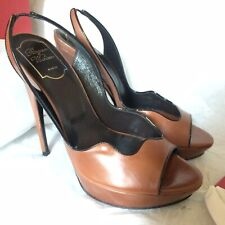ROGER VIVIER Sling Back Leather Pumps Heels IT Size 39.5