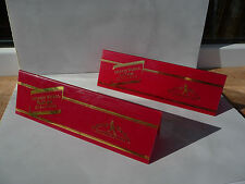 2pcs Vintage Johnnie Walker whisky sign Reserved table plate Red used rare