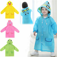 FAD Cartoon Baby Kids Toddler Boy Girl Hooded Rain Coat Raincoat Jacket LE