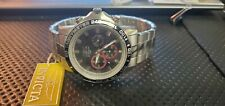 INVICTA Mens Tachymeter  Flame-Fusion Chrystal 100m Divers Chrono Watch #5866