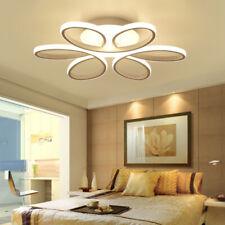 Living Room LED Ceiling Light Modern Metal Acryli Chandelier Flower Lamp Kitchen