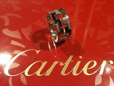 CARTIER Le BAISER Du DRAGON~18K WHITE GOLD DIAMONDS+BLACK ENAMEL RING~ESTATE~