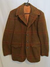 Vintage 1960's Cowboy Western Wear by Lasso Plaid 70% Wool Blazer Jacket Size 36