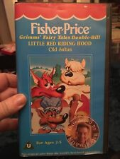 Fisher Price Vhs Video Little Red Riding Hood Grimes Fairy Tales Andy Crane