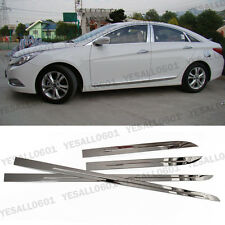 Stainless Steel Body Side Door Cover Molding Trim Garnish Kit For Hyundai Sonata