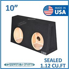 "For Single cab / Regular cab 10"" dual Sealed Sub box Subwoofer Enclosure"