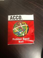 Acco Rubber Band Ball 270 Multi-Colored Bands (7b)