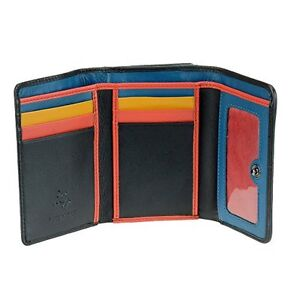 Visconti CHL70 Women's Secure RFID Blocking Leather Trifold Clutch Wallet Purse