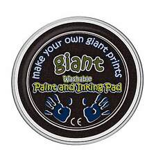 Giant Black Paint Pad (15cm) - Hand, Palm, Printing, Stamping, Arts & Crafts