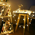 Battery Powered Led Globe Bulb Ball Fairy String Lights Outdoor Party Waterproof