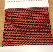 John Lewis braided cord orange black & grey 2m anorak crafts