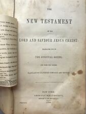1870 Leather New Testament + Spiritual Tracts Glued Between Pages One-of-a-Kind