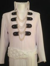 ELVIS  WHITE CHAIN SUIT AND BELT - MADE WITH LUXURY GABERDINE AND LYCRA LINING