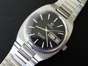 VINTAGE  1982   MEN'S   OMEGA   SEAMASTER   DAY  DATE  AUTO   CAL 1020  CLEAN