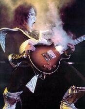 Kiss 8x10 Photo Ace Frehley Smoking Guitar Spaceman