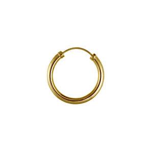 9ct Yellow Gold Hoop Sleeper Earring Chunky Men's 14x2.5mm Quality UK NEW & Box