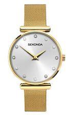 Sekonda Ladies Gold Tone Watch Stone Set Dial & Gold Tone Bracelet 2492