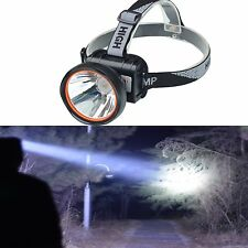 Odear Bright Rechargeable Headlamp LED Flashlight Battery Torch Camping Fishing
