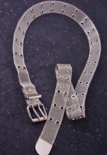 Belt Silver Mesh Metal