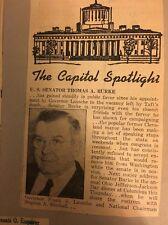 Vintage Scrapbook Senator Thomas Burke ... 1954