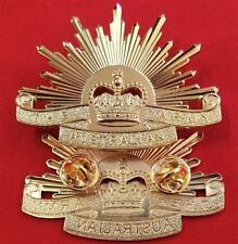 VIETNAM IRAQ AFGHANISTAN WAR AUSTRALIAN ARMY RISING SUN UNIFORM CAP BADGE