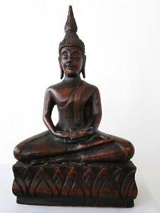 Terrific, antique wooden Buddha, Thailand around 1910