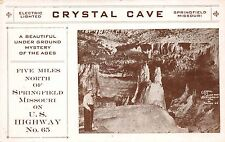 Postcard Crystal Cave on U.S. Highway No. 65 in Springfield, Missouri~112304