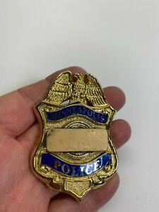 Ellis Rentals Obsolete Metal Minneapolis Patrolman Blank Badge Metal No Reserve