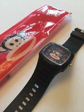 Paul Frank Wrist Watch Black Stainless Steel Back Rubber Strap 15-20cm