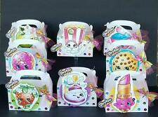 8pc SHOPKINS FAVOR BOXES + BOW HAIR CLIP ON EACH BOX BIRTHDAY PARTY HAND MADE