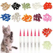 Pet Cat Nail Caps, Soft Kitten Soft Claws Covers Control Small Gold-S-132