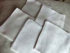 Lot de 5 serviettes damassées - déclassées 2è choix